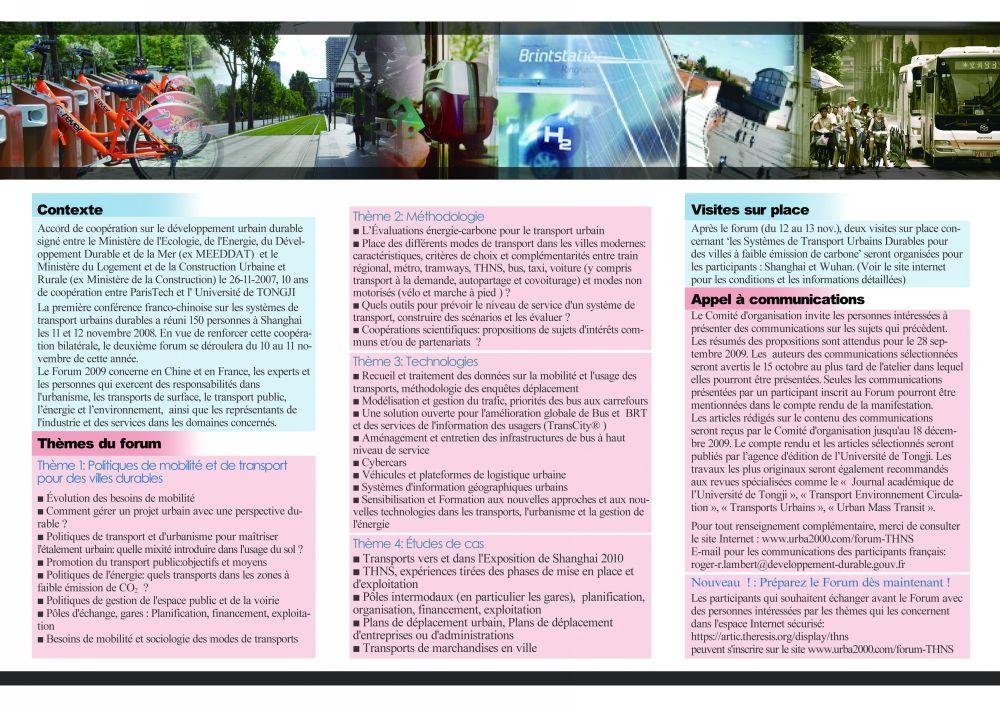 Brochure du forum THNS 2009 en français - Club écomobilité France ...